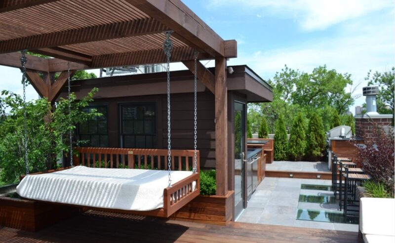 Add roof deck features